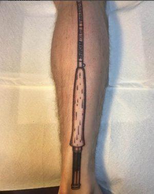 Sage Leg Tatoo